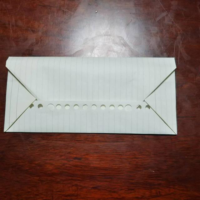 ルーズリーフ封筒折り方 (11)